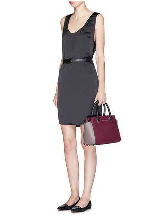 Figure View - Click To Enlarge - Michael Kors - 'Selma' medium saffiano leather satchel