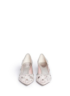 RENÉ CAOVILLA Strass lace pumps