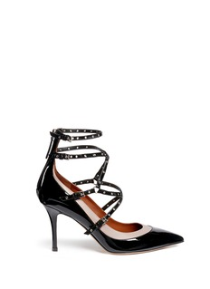 Valentino 'Love Latch' caged patent leather pumps