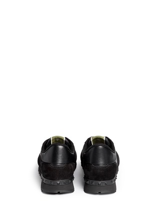 Back View - Click To Enlarge - Valentino - Camouflage print suede leather sneakers