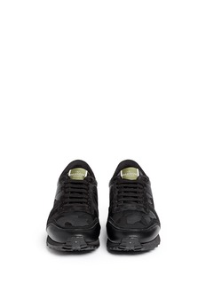 VALENTINOCamouflage print suede leather sneakers