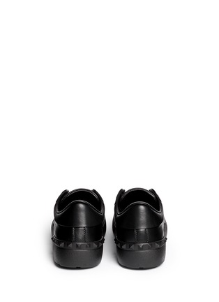 Back View - Click To Enlarge - Valentino - 'Rockstud' patent band leather sneakers