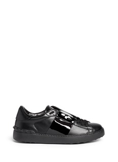 Valentino 'Rockstud' patent band leather sneakers