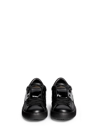 Figure View - Click To Enlarge - Valentino - 'Rockstud' patent band leather sneakers