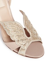 'Angelicouture' angel wing crystal leather sandals