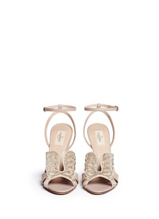 VALENTINO'Angelicouture' angel wing crystal leather sandals