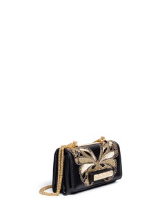 VALENTINO'Va Va Voom' butterfly embroidery leather shoulder bag