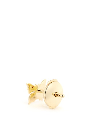 Back View - Click To Enlarge - Loquet London - 14k yellow gold butterfly single earring - Metamorphosis
