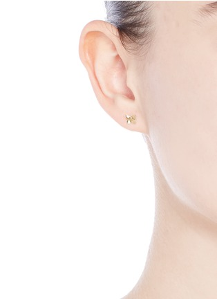 Figure View - Click To Enlarge - Loquet London - 14k yellow gold butterfly single earring - Metamorphosis