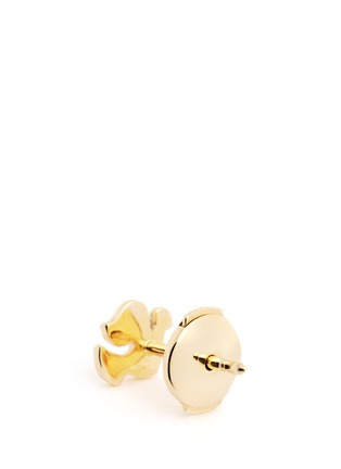 Back View - Click To Enlarge - Loquet London - 14k yellow gold dove single earring - Spread Your Wings