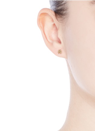 Figure View - Click To Enlarge - Loquet London - 14k yellow gold elephant single earring - Happiness