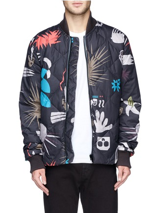 Main View - Click To Enlarge - Paul Smith - Tribal print quilted down bomber jacket
