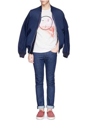 模特儿示范图 - 点击放大 - PAUL SMITH JEANS - Logo pima cotton T-shirt