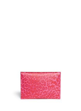 Figure View - Click To Enlarge - Alexander McQueen - Skull twist lock leopard print leather clutch