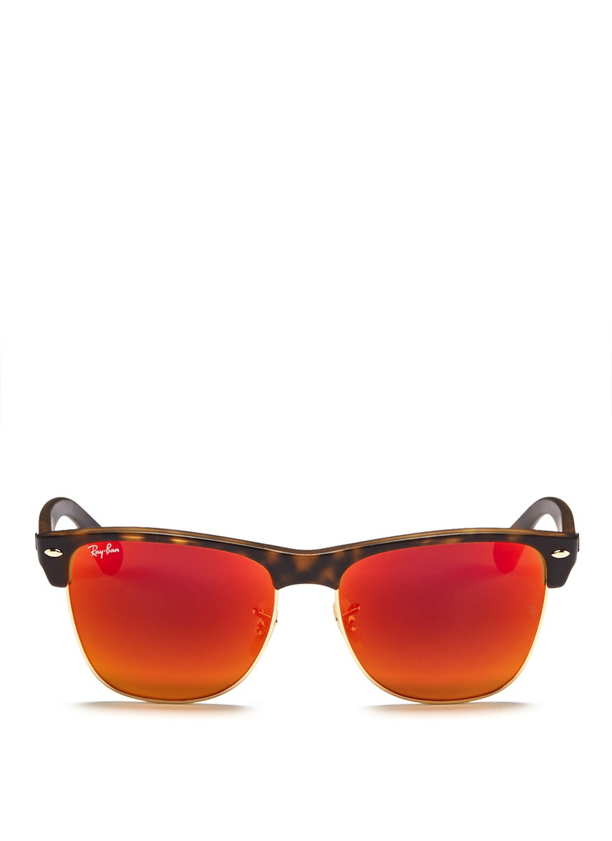 Ray Ban Clubmaster Beige And Orange