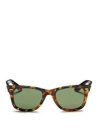 Ray-Ban-'Original Wayfarer' contrast temple acetate sunglasses