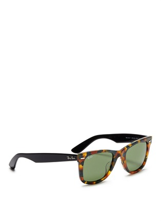 Figure View - Click To Enlarge - Ray-Ban - 'Original Wayfarer' contrast temple acetate sunglasses