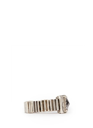 Detail View - Click To Enlarge - Philippe Audibert - Stone and beads rings