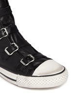 'Virgin' buckle leather sneakers