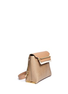 CHLOÉ 'Clare' medium python leather shoulder bag