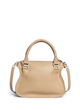 Back View - Click To Enlarge - Chloé - 'Marcie' medium leather shoulder bag