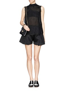 MO&CO. EDITION 10Texture front sheer sleeveless blouse