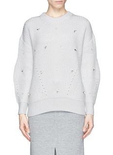 MO&CO. EDITION 10 Jewel front chunky knit sweater