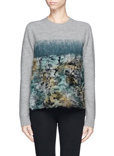MO&CO. EDITION 10 Mohair fur ombré wool sweater