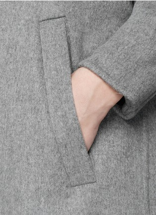 Detail View - Click To Enlarge - MO&CO. EDITION 10 - Felt wool wrap coat
