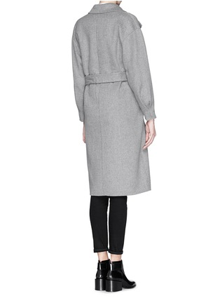 Back View - Click To Enlarge - MO&CO. EDITION 10 - Felt wool wrap coat