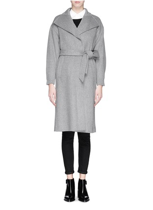 Main View - Click To Enlarge - MO&CO. EDITION 10 - Felt wool wrap coat