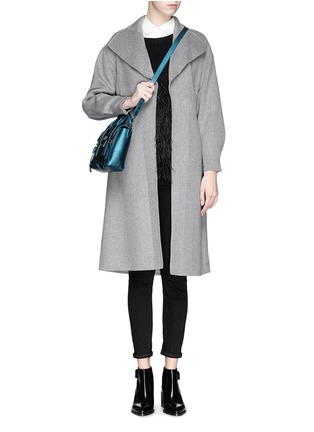 Figure View - Click To Enlarge - MO&CO. EDITION 10 - Felt wool wrap coat