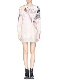 MO&CO. EDITION 10Marble print sweatshirt dress