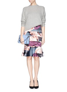 MO&CO. EDITION 10 Fabric print satin trumpet skirt