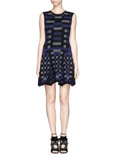 RVN'Mondrian' jacquard flare dress