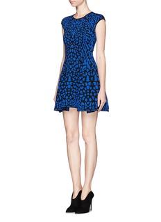 RVN'Cougar' jacquard flare dress