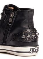 'Frog' stud leather kids sneakers
