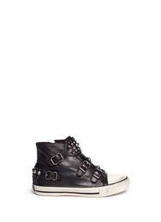 ASH'Frog' stud strap leather kids sneakers