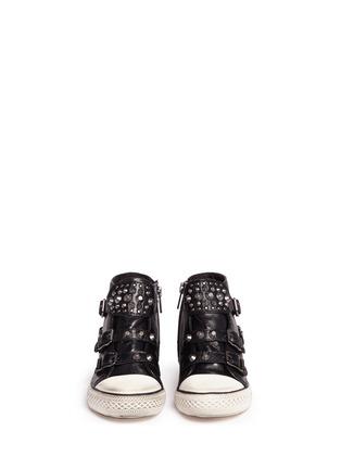模特儿示范图 - 点击放大 - Ash Kids - FROG儿童款铆钉搭带高筒球鞋