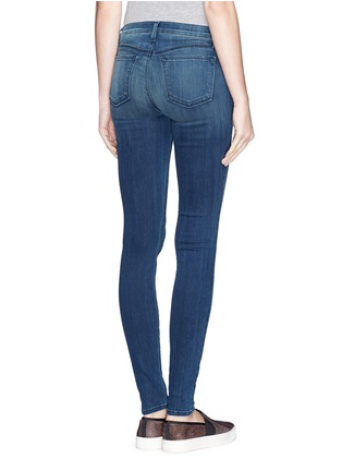 Back View - Click To Enlarge - J Brand - 'Blue Stocking' skinny jeans
