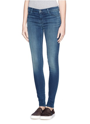 Front View - Click To Enlarge - J Brand - 'Blue Stocking' skinny jeans