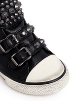 'Frog' stud leather toddler sneakers
