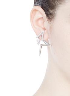 Eddie Borgo'Mercury' half star cubic zirconia earrings