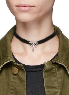 Dannijo'Dena' Swarovski crystal velvet choker necklace