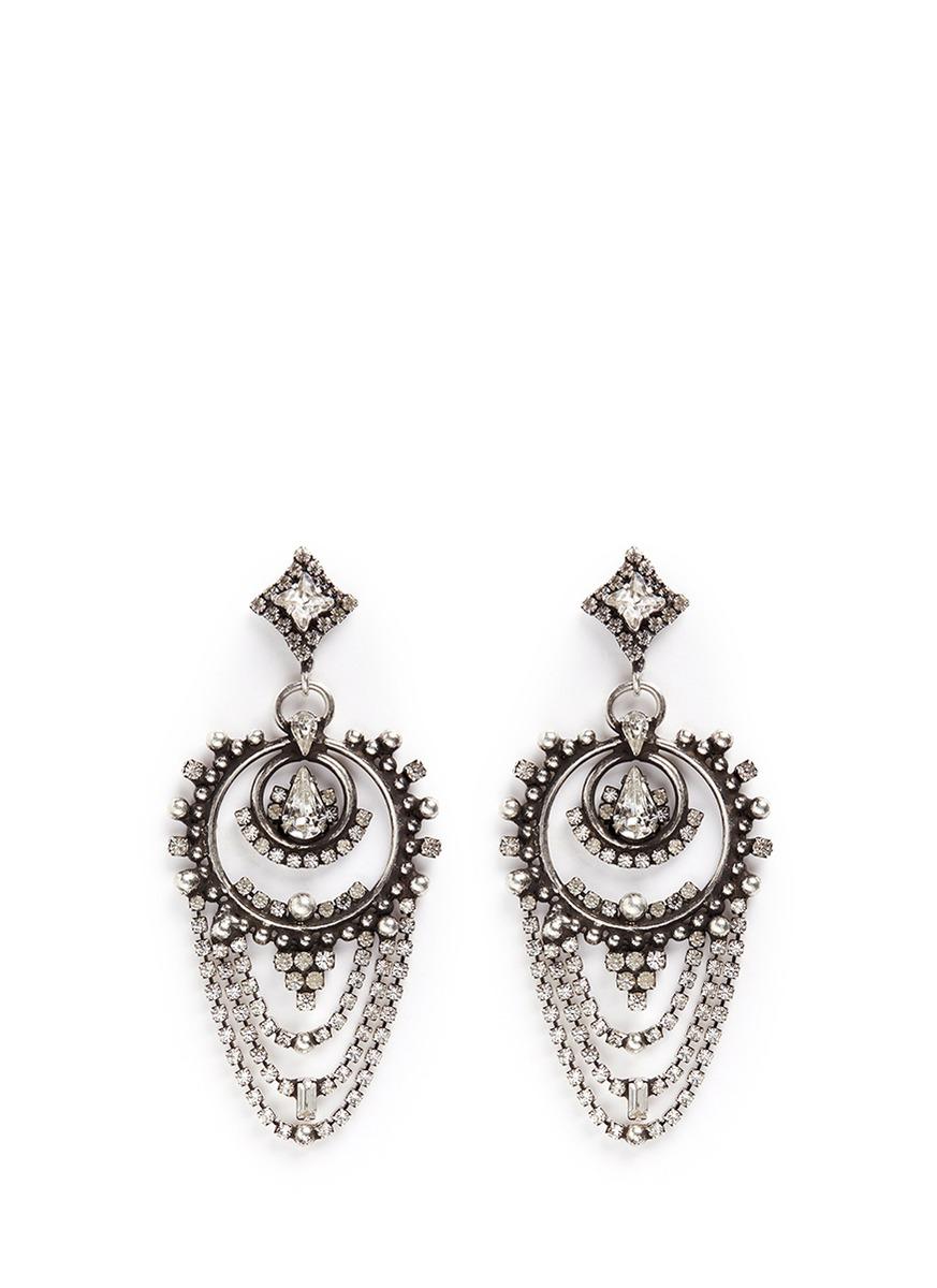 Rosalie Swarovski crystal drop earrings by Dannijo