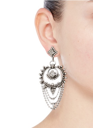 Figure View - Click To Enlarge - Dannijo - 'Rosalie' Swarovski crystal drop earrings