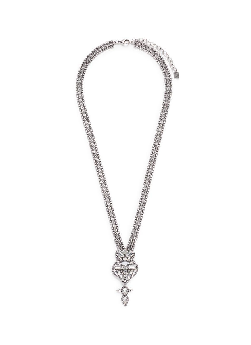 Finley Swarovski crystal pendant necklace by Dannijo