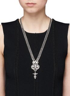 Dannijo'Finley' Swarovski crystal pendant necklace