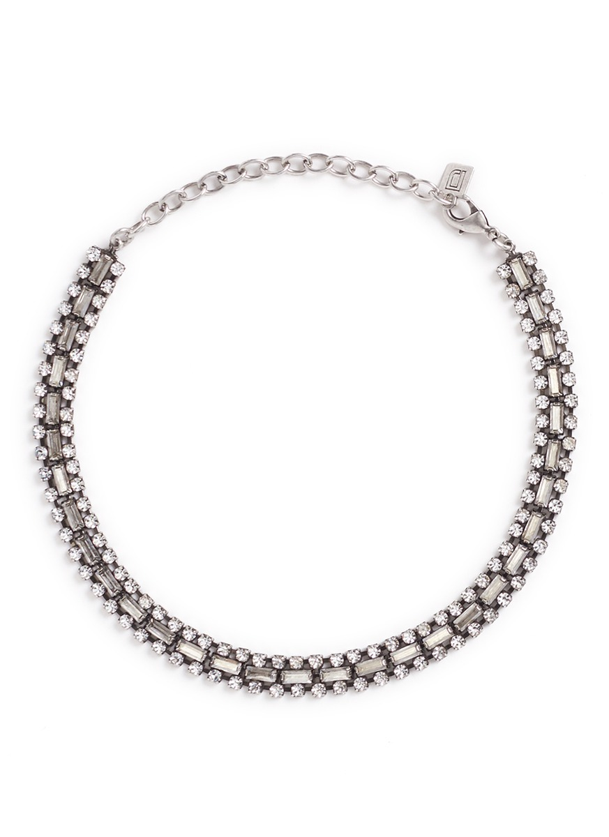 Jihan Swarovski crystal collar necklace by Dannijo