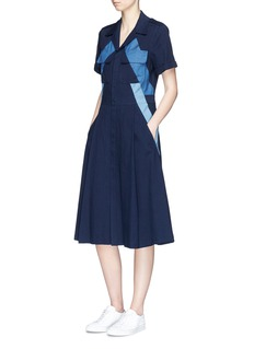 Neil Barrett Lightning bolt stripe denim dress